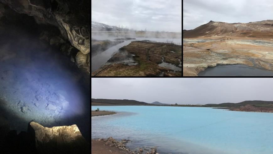 Grjotagja cave, geothermal area, Myvatn lake, Blue lake. Ph. Sara Pescetta