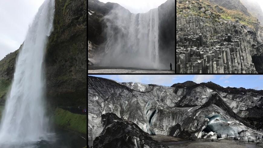 waterfall of Skogafoss, Seljalandsfoss, Reynisfjara, Solheimajokull glacier . ph. Alessia Casalaina