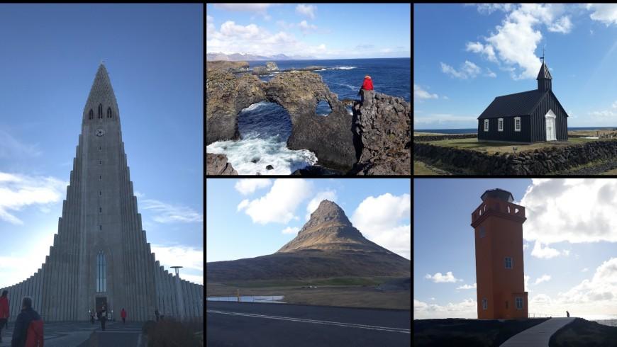 Reykjavik cathedral, Arnarstapi, curch of Búðakirkja, Kirkjufell mountain, Öndverðarnes. Ph. Alessia Casalaina