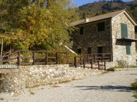 Outside Centro Anidra, the original mill has been restored in a agri-BnB in the Aveto Park, Liguria, Italy