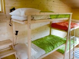 Rooms at Centro Anidra, Ecobnb in Liguria. Furnitures and structure are all made of wood