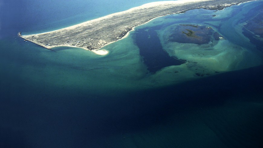 Aerial view on Ilha Deserta