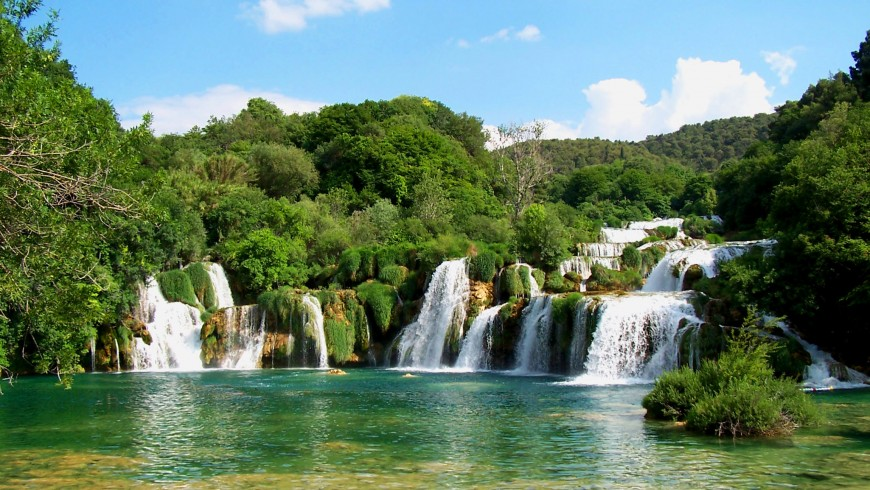 Krka Natural Park, the waterfall
