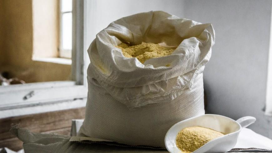 A bag full of flour