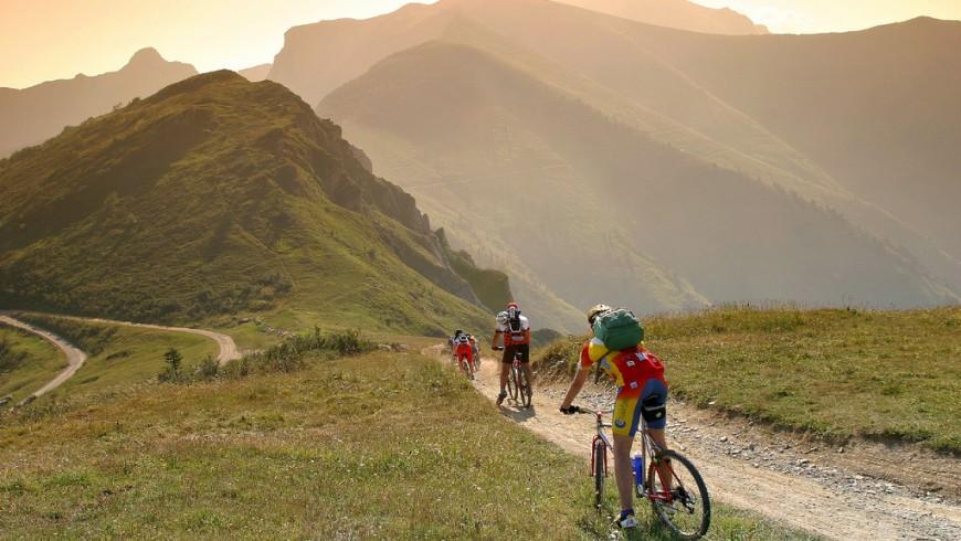 bike path in limone piemonte, italy