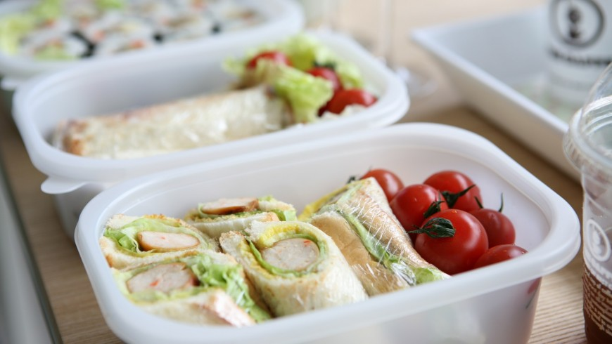 packed food, with reusable containers