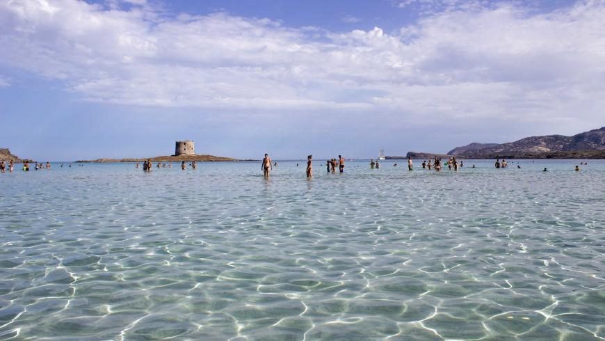 """La Pelosa"" beach and sea in Sardinia, smoke free beach in Italy"