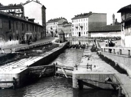 sluice on a channel projectd by leonardo