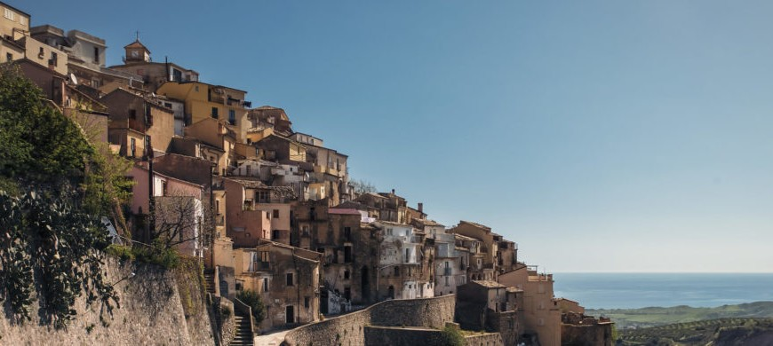 The village of Badolato, Calabria
