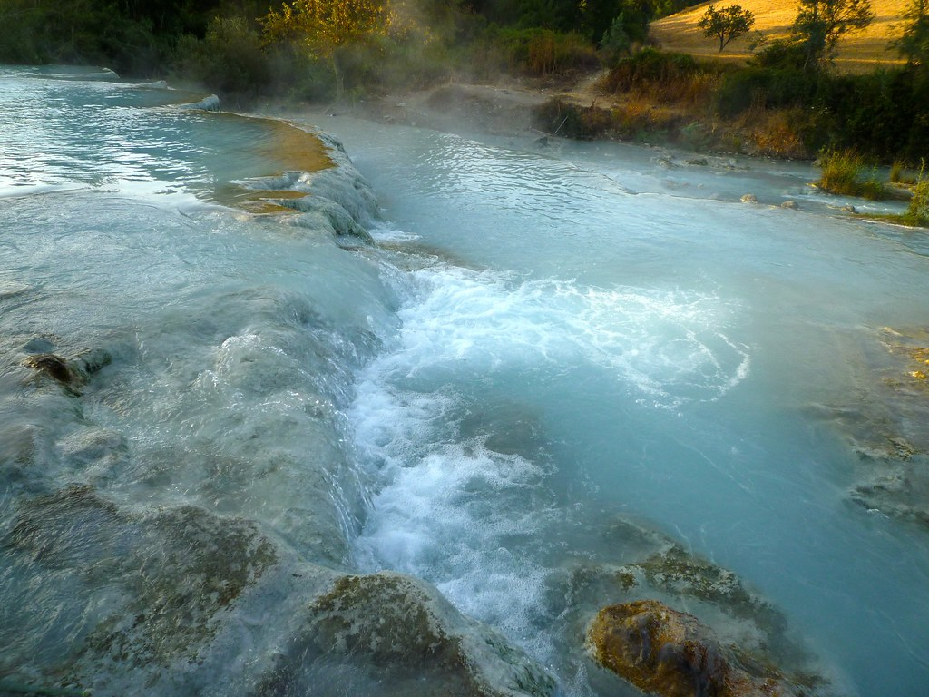 Saturnia, natural hot tube, Tuscany