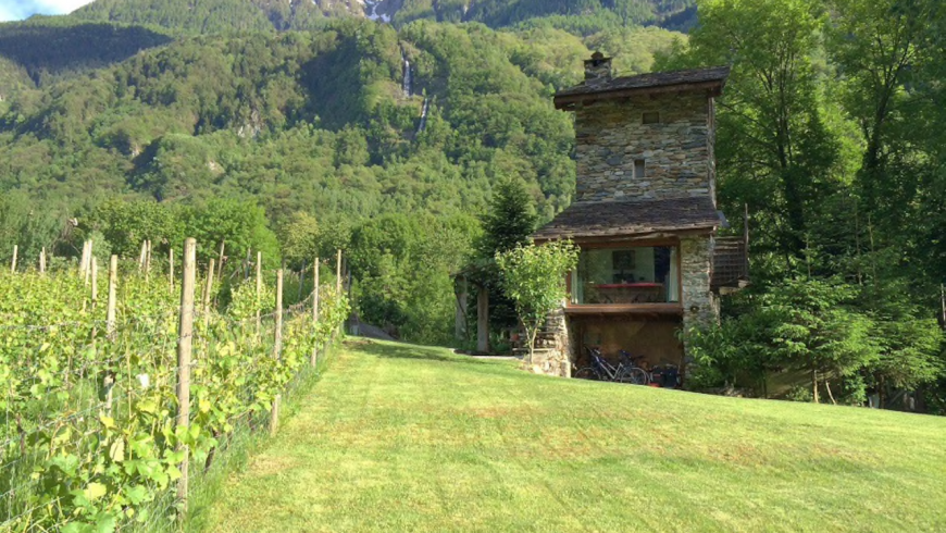 An ancient charming tower in Val Chiavenna