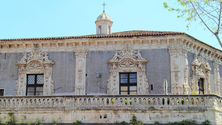 BIscari Palace, Catania, facade