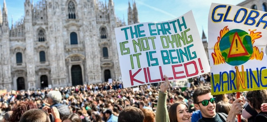Duomo Square, Milan, the 15th March 2019 for the global strike for the climate