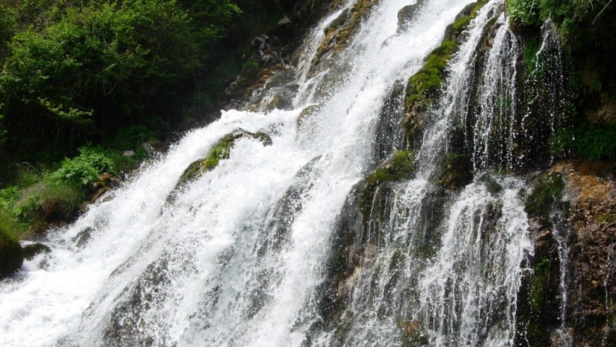 Rio Bianco Waterfall, one of the most beautiful waterfalls of Adamello Brenta Natural Park