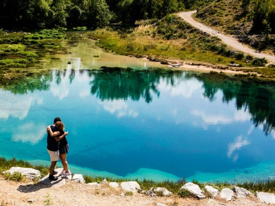 River Cetina natural water spring Vrlika