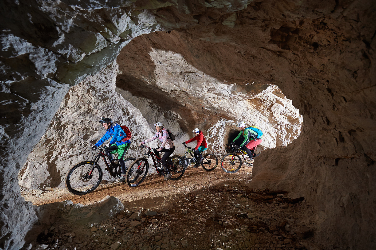 underground cycling route under Mount Peca