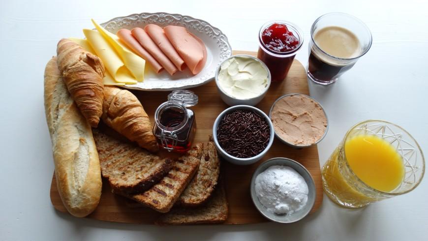 A typical vegan breakfast