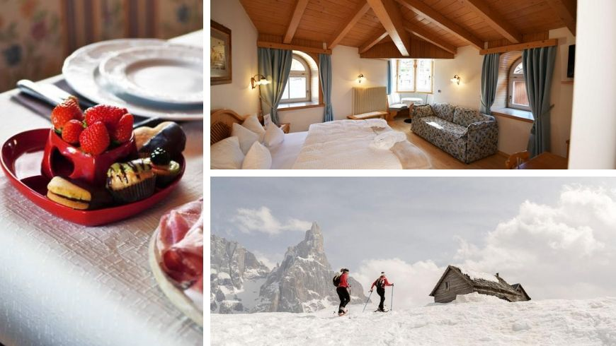 Hotel Central Moena: zero-mile breakfast, room and an itinerary in the snow