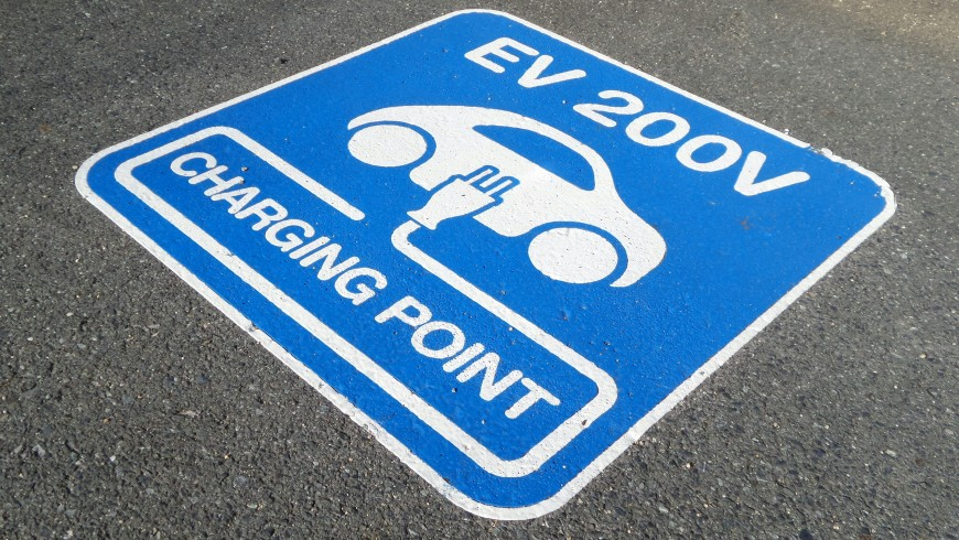 parking for e-car and charging system in your hotel