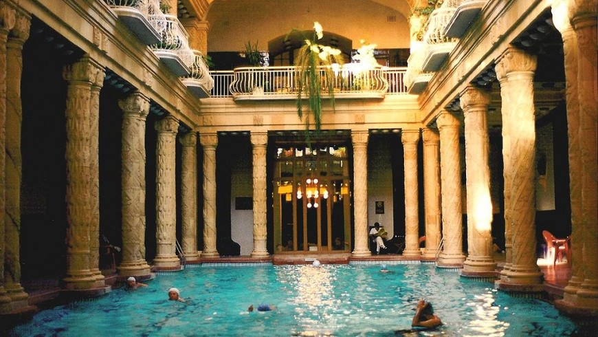 The Gellert Baths, Budapest, Hungary