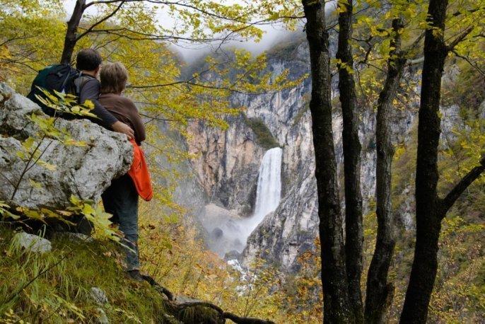 Waterfalls in Slovenia - waterfall Boka