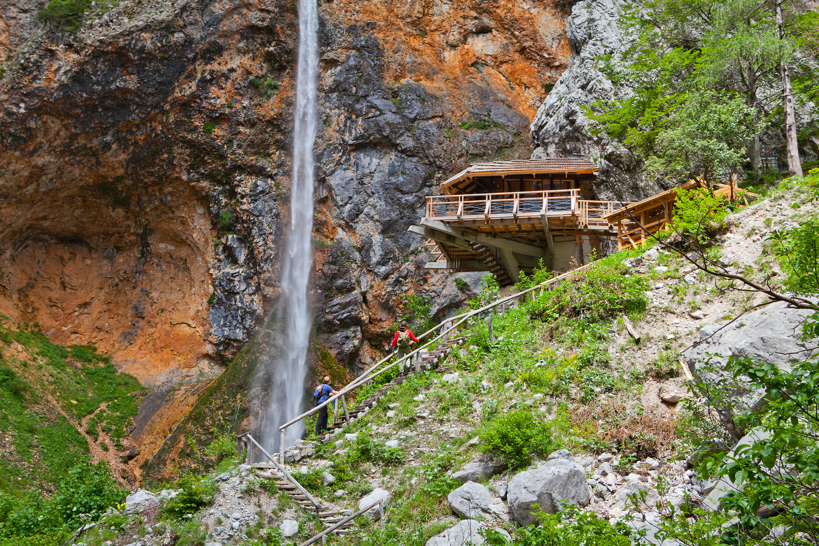 Waterfalls in Slovenia - waterfall Rinka