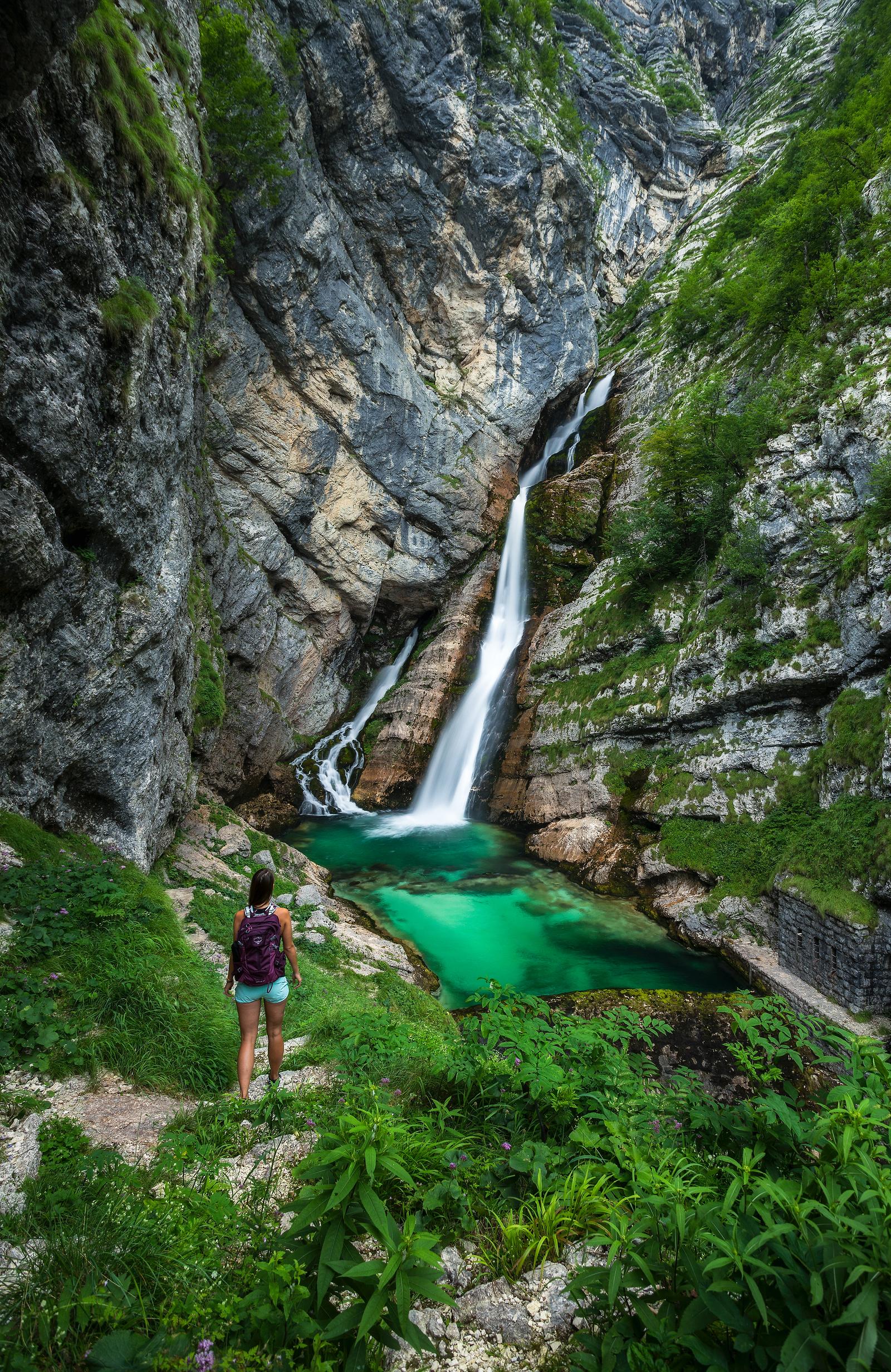 Waterfalls in Slovenia - waterfall Savica