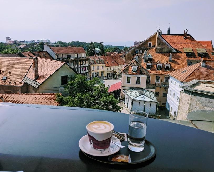 Panorama Stara Pošta Kranj coffee