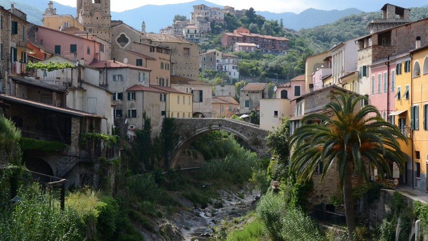 Dolcedo, Italian village near Imperia, Liguria
