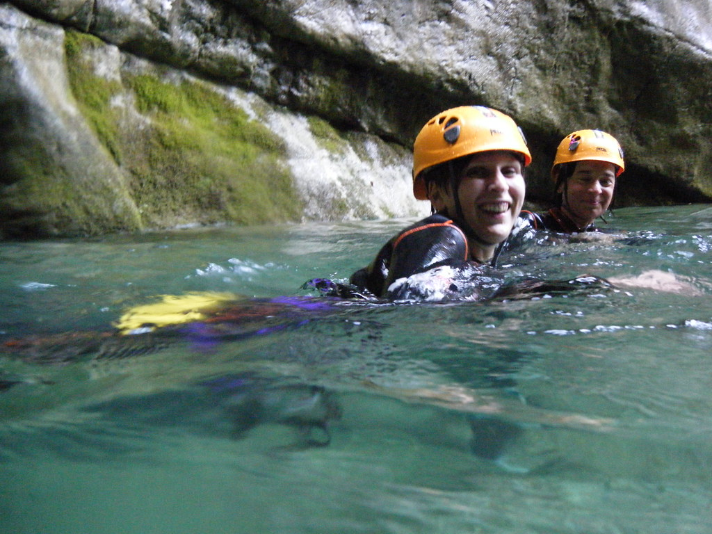 Waterfalls in Slovenia - waterfall Fratarica canyoning