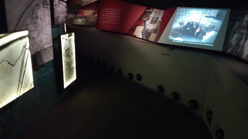 Roman York with interactive museum, just under the York Minister