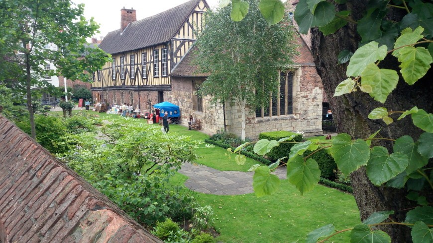 the outisde part of the Merchant Adventurers' Hall