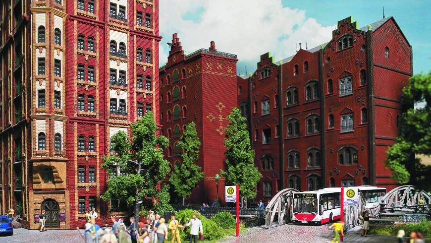Speicherstadt, Hamburg reproduced in Miniatur Wunderland