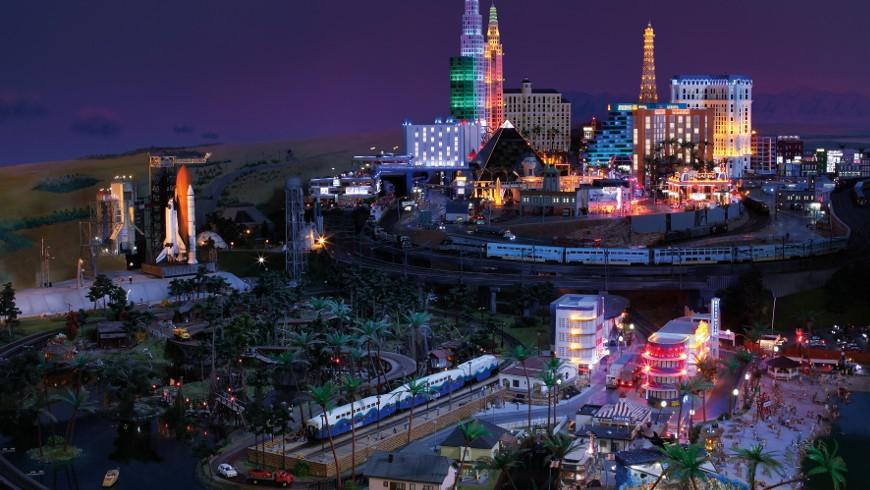 Las Vegas at night in Miniatur Wunderland