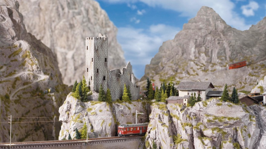 journey by train in the world of Miniatur Wunderland