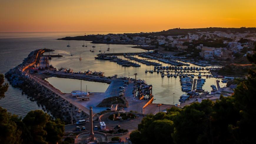 Harbour of Santa Maria di Leuca at sunset