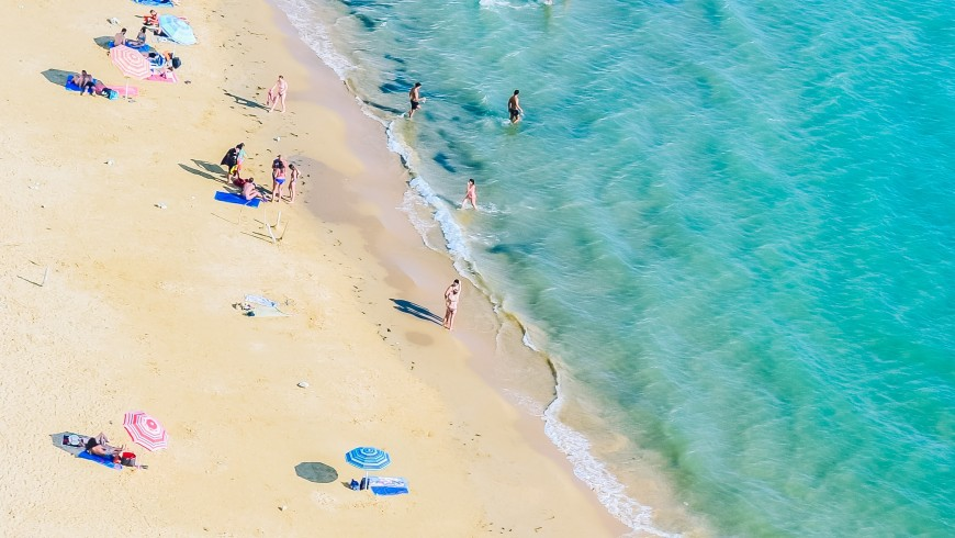 White beach Baia dei Turchi, Salento