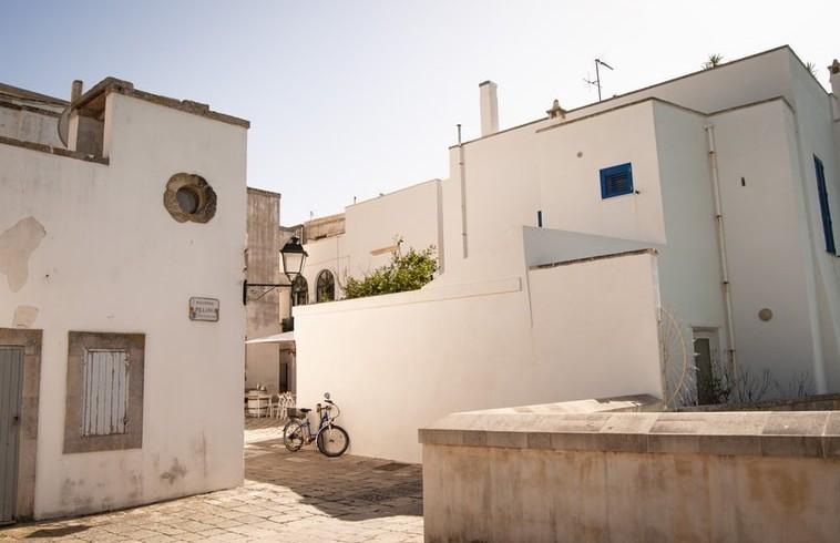 Historical city centre of Otranto with its narrow streets