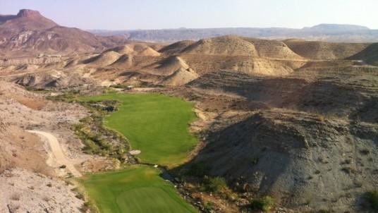 A golf field built in the desert