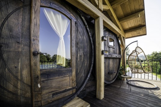 Sleeping in a barrel in Italy
