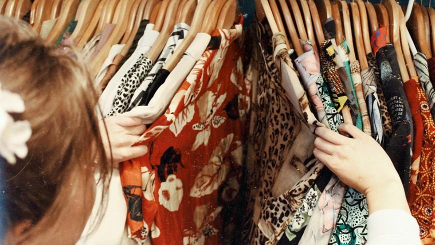 Shopping for vintage clothes, Belfast, United Kingdom