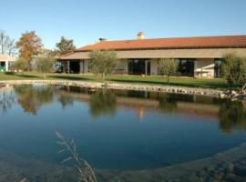 lake garda and local farmhouse