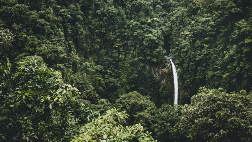 Costa Rica, forests and waterfall