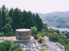Ploce abandoned military structures