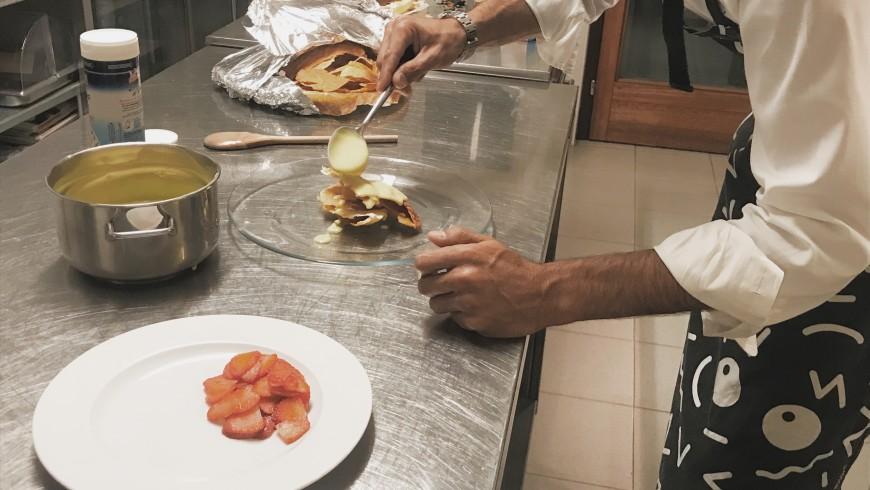 Preparation of a dessert