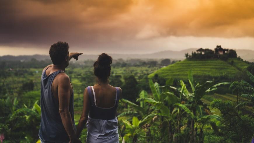 Sulla strada per il villaggio di Sidemen, Bali, Indonesia