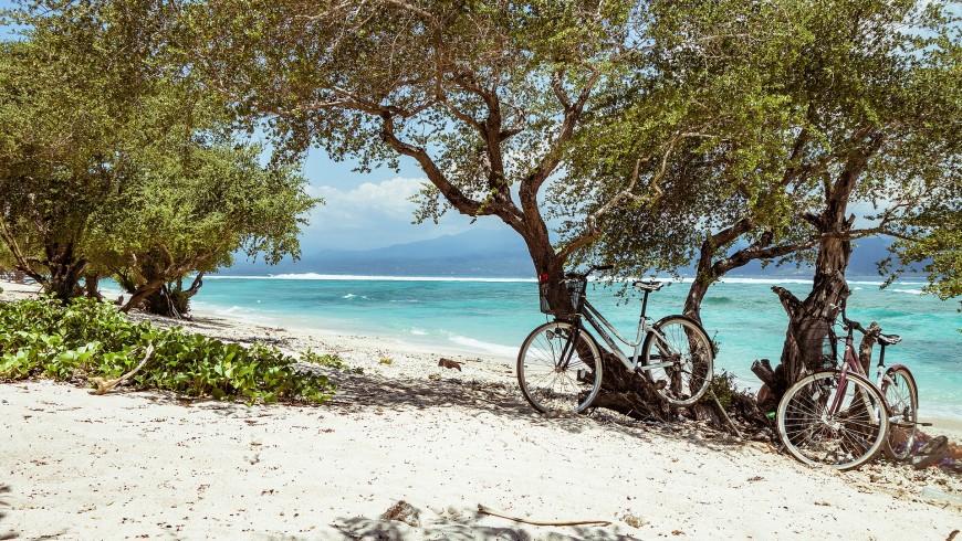 Biking at the beach, Bali