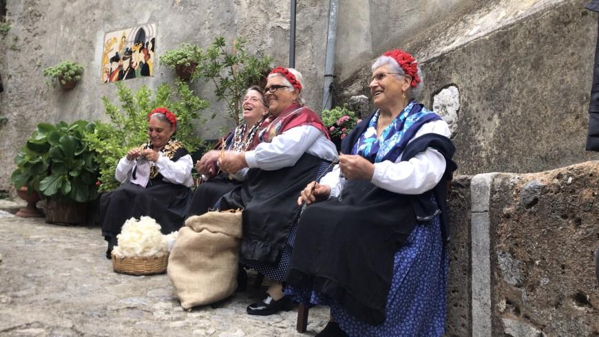 Local women in Morano Calabro