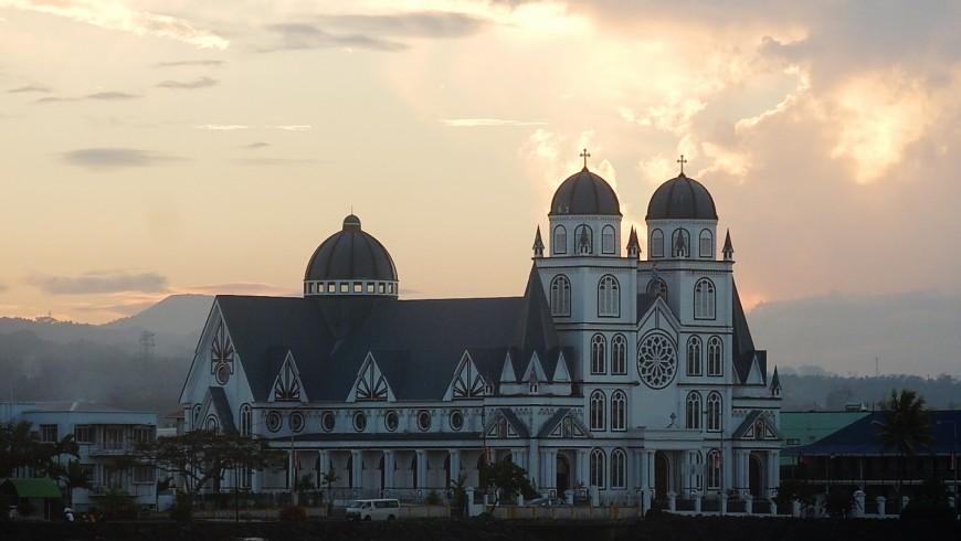 Church at Apia, Samoa capital