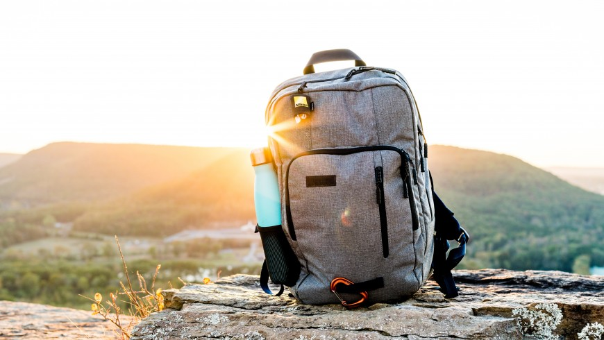 backpack: during your hike Take all you need, and take it home with you